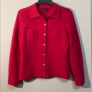 Rosanna 100% Wool Hot Pink Size M Jacket So Cute!!